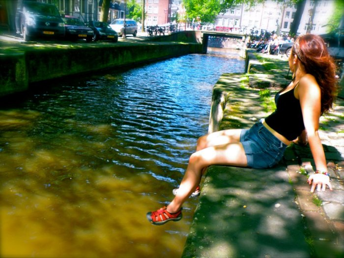 Amsterdam, Holland. Sitting by the canals...my favorite activity. :-)