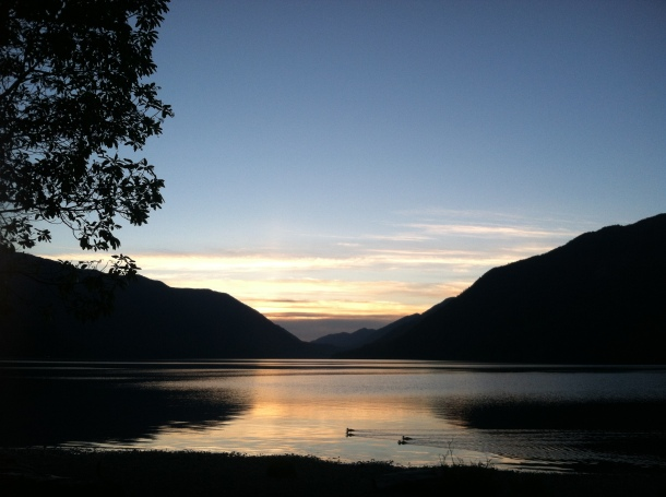 Sunset over Lake Crescent, WA