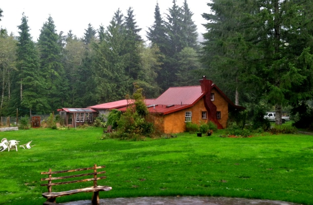 Straw bale cottage, off the grid near Bellingham, WA. Discover what it feels like to be a gnome.