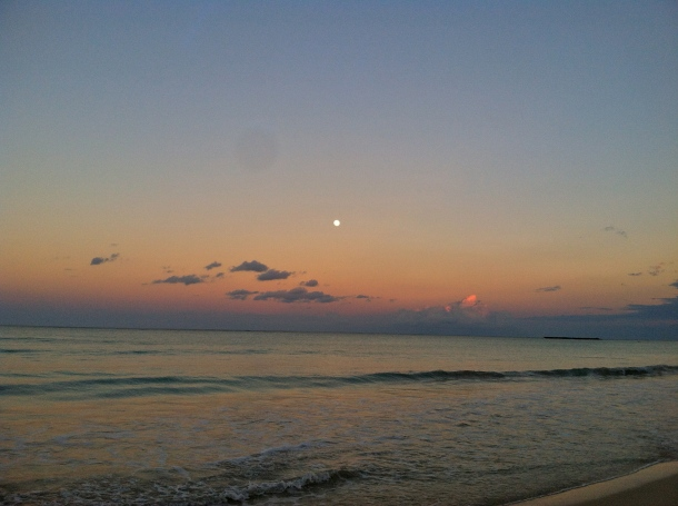 Moonrise, Sunset...Kailua Beach.